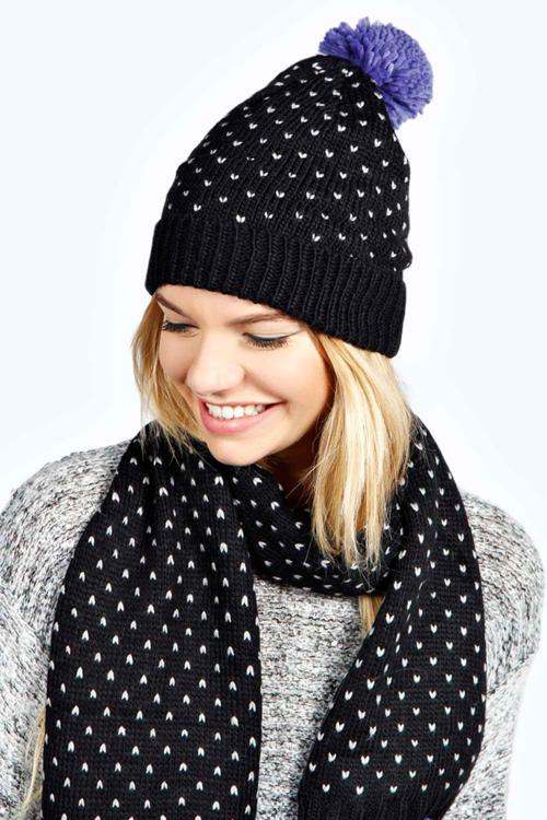 جدیدترین مدل های شال و کلاه بافتنی زمستانه 2015