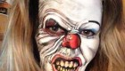 گریم های ترسناک زنی بر روی صورت خودش +عکس