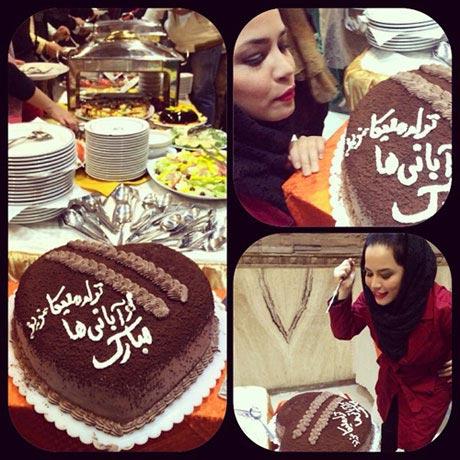 جشن تولد تهیه کننده برای بازیگر خانم ! +عکس