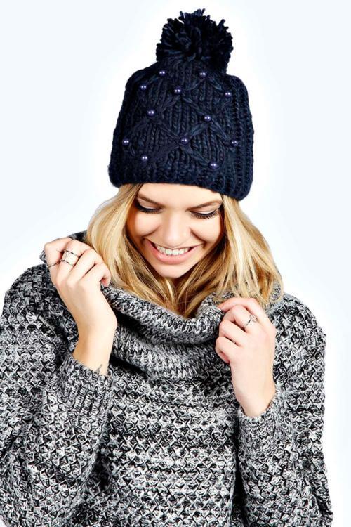 جدیدترین مدل های شال و کلاه بافتنی زمستانه 2019
