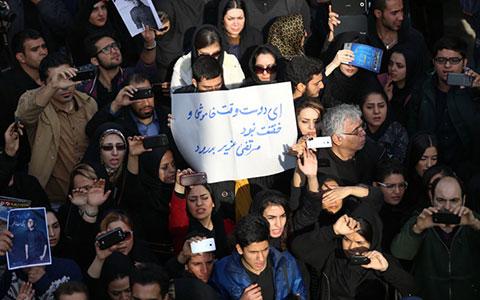 عکس های مراسم تشییع خواننده محبوب ایرانی مرتضی پاشایی