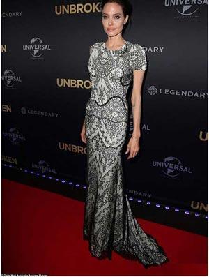 عکس های جدید آنجلینا جولی به همراه برد پیت در فرش قرمز فیلم Unbroken