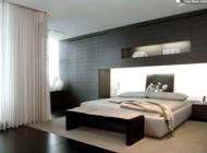 مدل دکوراسیون رنگ سیاه و سفید در اتاق خواب