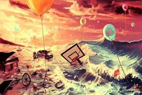 نقاشی های جالب دیجیتالی سورئال از سیریل رونالدو