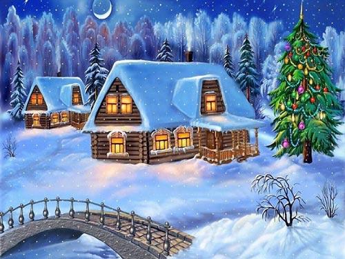عکس هایی دیدنی از نقاشی های زیبای کریسمس