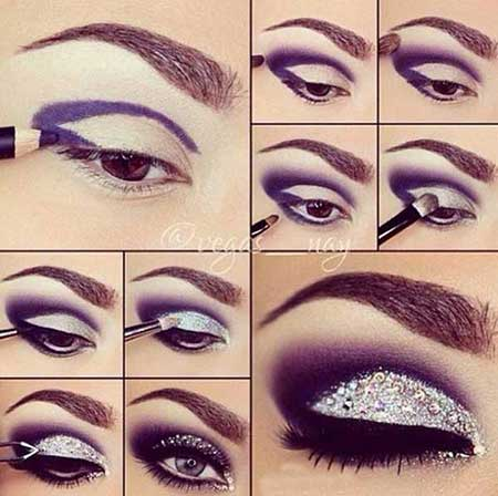 گالری تصاویر آموزش آرایش چشم