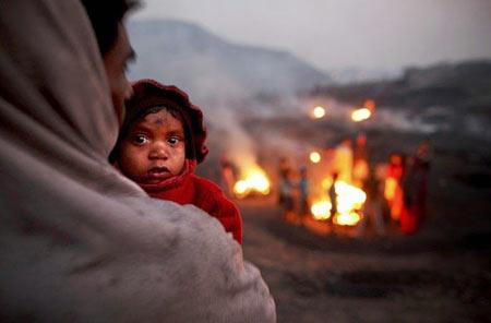 عکس های جالب معدن شعله ور در هند