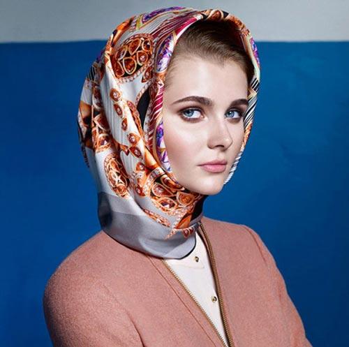 انواع مدل های جدید روسری Aker