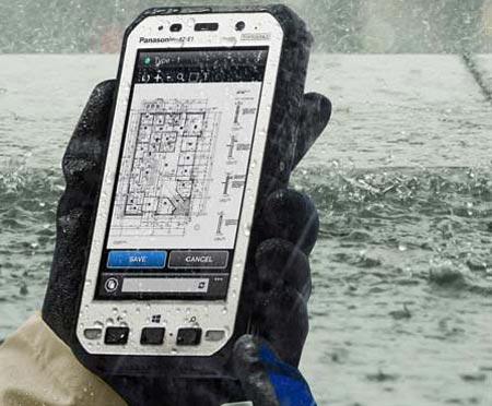 تبلت ضد آب و ضربه Panasonic +عکس