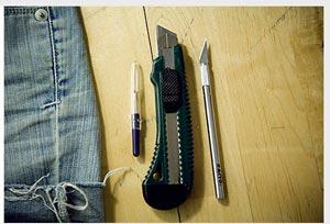 نحوه تزئین شلوارک جین