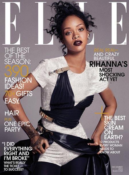عکس های جدید Rihanna روی مجله Elle