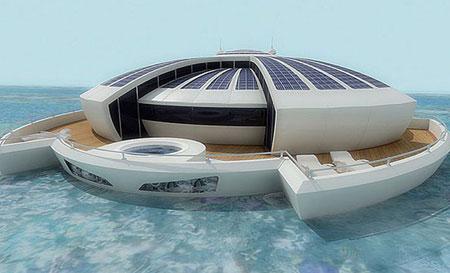 هتل شناور مجلل خورشیدی در کشور ایتالیا +عکس