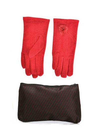 انواع مدل های جدید ست دستکش و کیف زمستانی