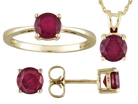 گلچینی از جدیدترین نیم ست های طلا و جواهر