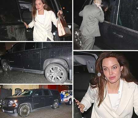 تصادف آنجلینا جولی بعد از اکران فیلمش ! +عکس
