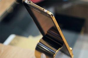 گوشی «گلکسی نوت اج» با قاب مطلا را ببینید +عکس
