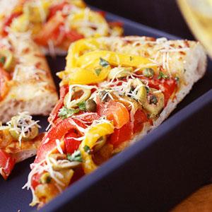 طرز تهیه پیتزا فلفل دلمه ای (فوق العاده کم کالری)