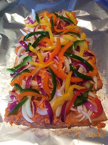 طرز پخت ماهى سالمون كريسمسى