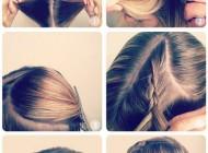 آموزش تصویری بافت موی ساده و زیبا و دخترانه به شکل قلب