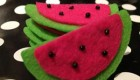 طریقه درست کردن دستگیره به شکل هندوانه مخصوص شب یلدا