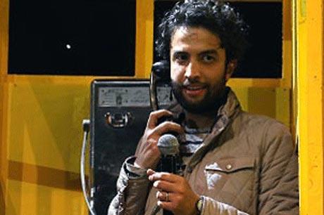 بنیامین بهادری در تلفن همگانی! +عکس