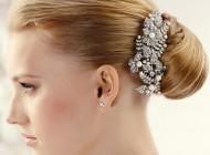 انواع مدل های جدید گل سر ساده عروس