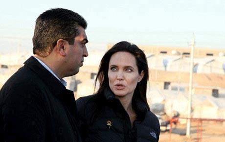 حضور جنجالی آنجلینا در کردستان عراق +عکس