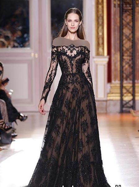 انواع مدل های جدید لباس مجلسی بلند سال 2015
