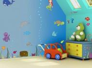 تزئینات جالب دیوار اتاق کودک با تکنیک استنسیل