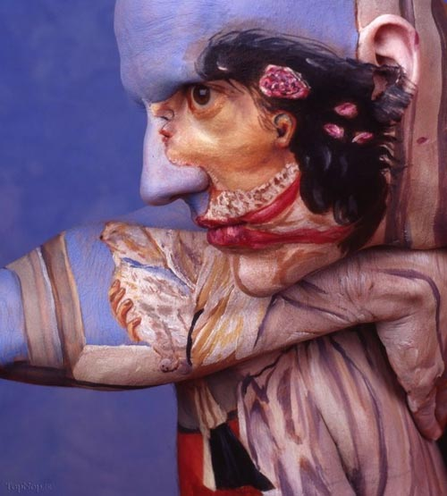 شگفت انگیزترین نقاشی های گیج کننده روی بدن انسان