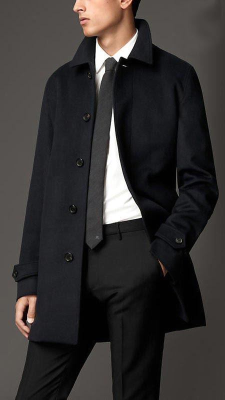 انواع مدل های جدید کت مردانه Burberry زمستان 2015