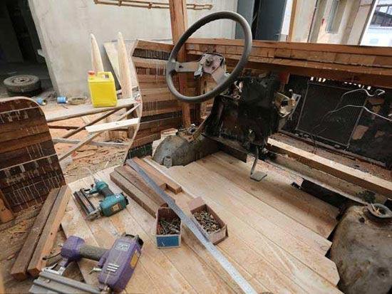 خودرو چوبی برقی جالب ساخت چین +عکس