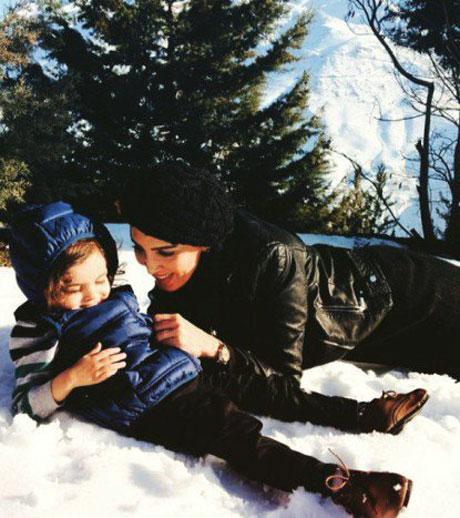 عکس های جالب لیلا بلوکات در یک روز زمستانی