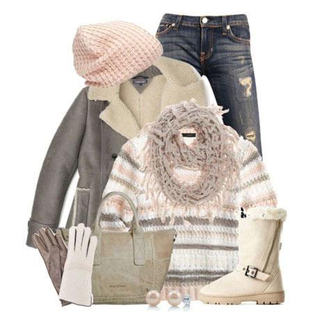 نمونه هایی از زیباترین ست های لباس زمستانی 2015