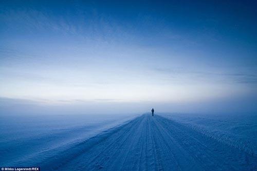 عکس هایی زیبا از مناظر برفی و یخ زده فنلاند