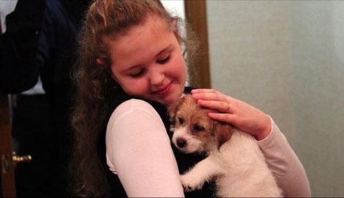 هدیه جالب پوتین به یک دختر روسی +عکس
