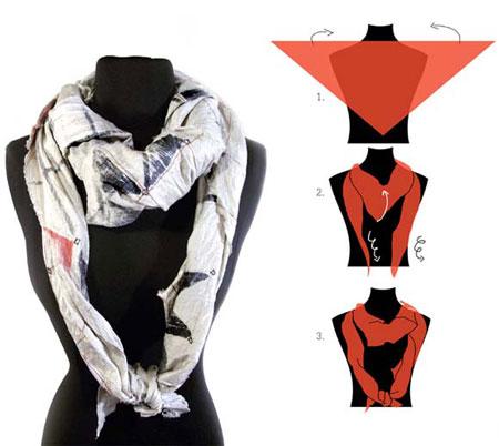 ترفندهای خلاقانه بستن روسری
