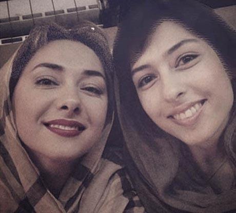سلفی جالب هانیه توسلی در کنار خواهرش طناز
