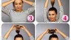 بستن موی گوجه ای به وسیله جوراب +آموزش تصویری
