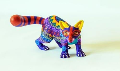 مجسمه های چوبی رنگارنگ جالب حیوانات +عکس