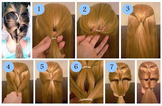 طریقه بافت موی طبقه ای