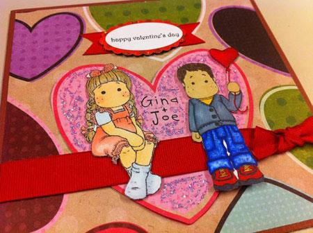 نمونه های زیبای کارت پستال ولنتاین 2015