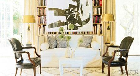 استفاده از کاناپه های سفید رنگ در دکوراسیون زمستانی +عکس
