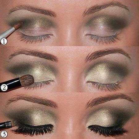 آرایش چشم طلایی +آموزش تصویری