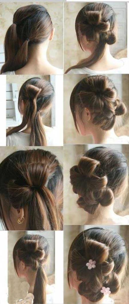 آموزش جالب بستن مو بسیار زیبا و ساده +عکس
