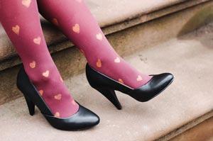 طراحی جالب و جذاب قلب روی ساپورت دخترانه +عکس