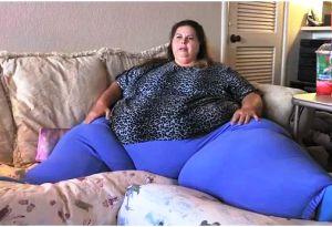 تصاویر غیر قابل باور از چاق ترین زن جهان با 300 کیلوگرم وزن