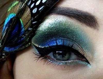 زیباترین عکس های آرایش چشم طاووسی