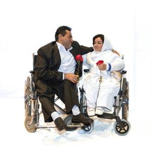 عکس های بسیار جالب از جشن ازدواج زوج های معلول