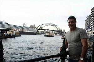 عکس جالب علی دایی در كنار دل پیرو در استرالیا